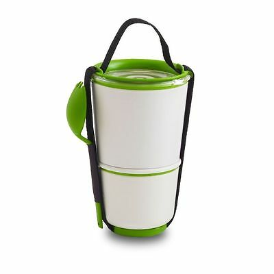 Lime & White Lunch Pot - Black + Blum