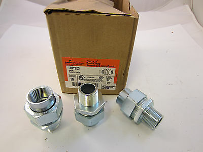 """Box Of 10  Crouse Hinds Uny205 Explosion Proof Union 3/4"""" Male/female Threads"""