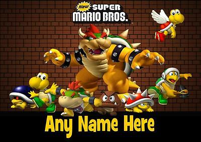 BOWSER super mario PERSONALISED PLACEMAT