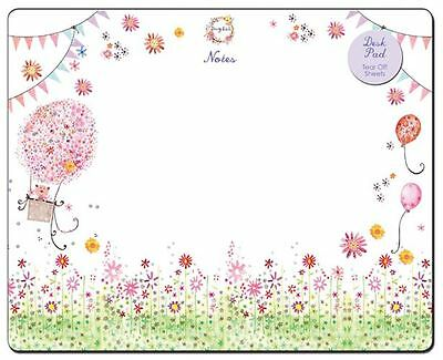 Daisy Patch Note Pad Flower Design Tear Off Desk Pad