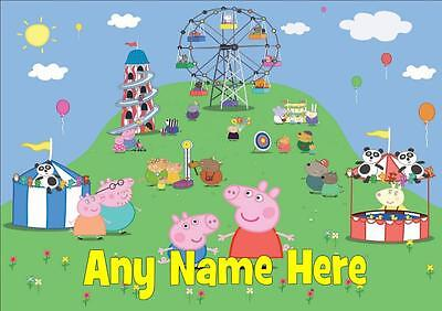 Peppa And George Pig Fair Personalised Placemat