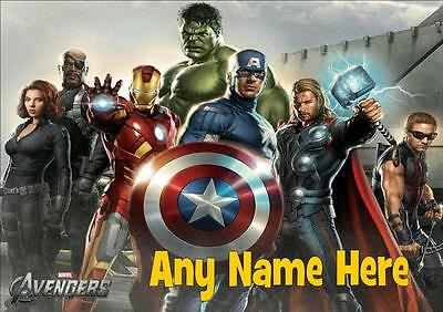 THE AVENGERS b PERSONALISED PLACEMAT