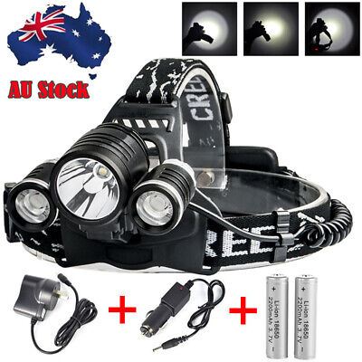 X800 Shadowhawk Style Flashlight CREE XM-L T6 LED Torch Zoomable Battery Charger