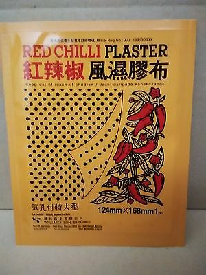 RED CHILLI CAPSICUM PLASTER Large Patch 168x124mm Back Pain Relief NOT Salonpas