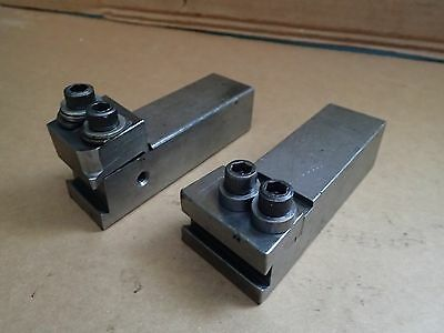 "2 Pc Automatic Lathe Screw Machine Form Tool Holders 1-3/8"" x 1-1/2"" Shank"