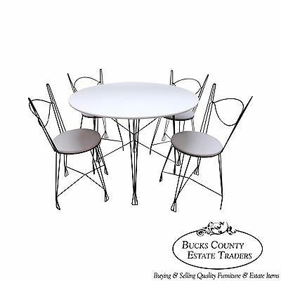 Iron Prairie School 5 Piece Bistro Parlor Dining Set (A)