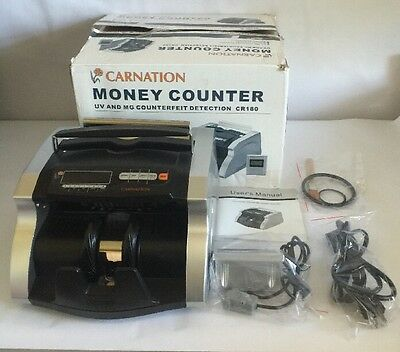 Carnation Money Counter CR180 Counterfeit Detection