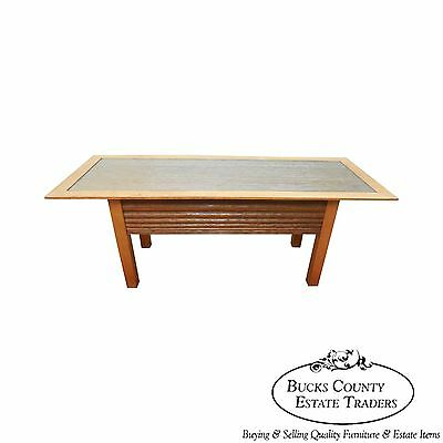 Andy Rae Studio Sculpted Mixed Wood Coffee Table