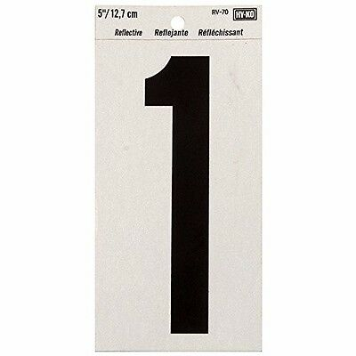 """HyKo Products Co 20404752 Numbering Reflective Vinyl 5"""" (#1) - Black On Silver"""