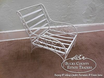 Gallo Iron Works Custom Vintage Wrought Iron Patio Lounge Chair
