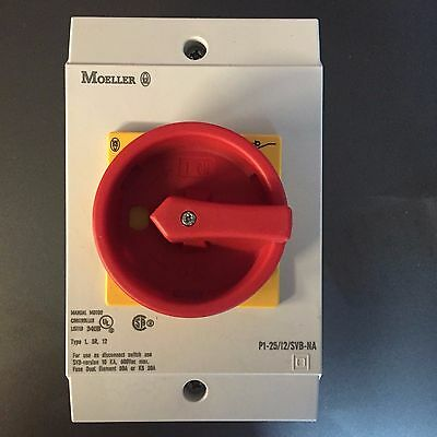 New Old Stock Moeller P1-25/i2/svb-Na Main Switch Motor Disconnect Switch