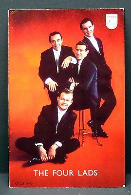 The Four Lads - AK - Foto Autogramm-Karte - Photo Postcard (Lot F7569