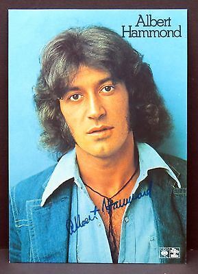 Albert Hammond - AK - Foto Autogramm-Karte - Photo Postcard (Lot F7571