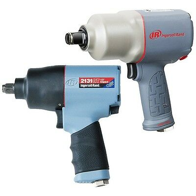"""Ingersoll Rand 1/2"""" & 3/4"""" Air Impact Wrench Quiet Industrial Pack (2131QT + 214"""