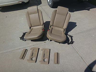 99-04 Land Rover Discovery 2 Deluxe Rear Pair Jump Seats Trim Saddle Beige Tan