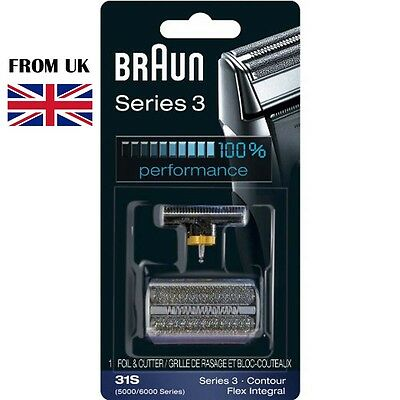 BRAUN SHAVER 5000/6000 Series Contour Flex XP Integral Foil & Cutter Pack 31S