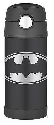 Batman Thermos Stainless Steel Kids Insulated 12oz Funtainer Straw Bottle Black