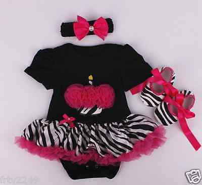 Hot New Reborn Doll Clothes Black Dress Suits Handmade 3PCs  Exquisite Gift
