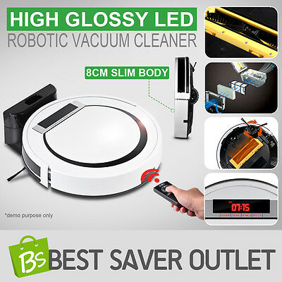 Automatic Rechargeable Bagless Vacuum Cleaner Robot Robotic Sweeper Super Slim
