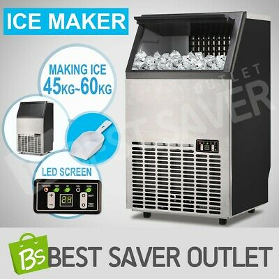 Commercial Ice Maker Portable Cube Machine Auto Snow Home Business 45~60KG/Day