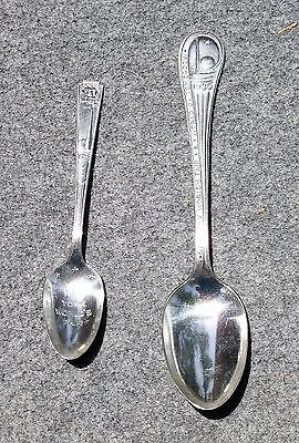 (2) 1939 New York World's Fair Silver-Plated Spoons
