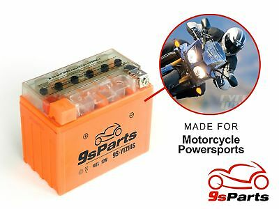 YTZ14S Maintenace Free 12V Sealed Gel Battery Yamaha FZ1 FJR1300 VMAX VSTAR XVS