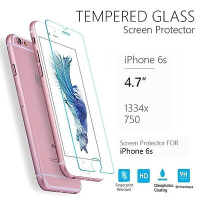 Premium Ultra Clear Tempered Glass Screen Protector for Apple iPhone 6s Plus Lot