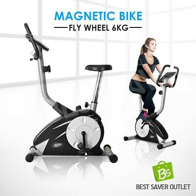 Indoor Upright Magnetic Bicycle Exercise Flywheel Bike Trainer Fitness Home Gym