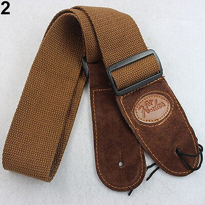 Brown Widening Acoustic Electric Guitar Bass Adjustable Belt Strap Latest