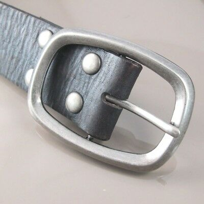 Vintage Silver Alloy Classic Standard Square Oval Womens Mens Belt Buckle NEW