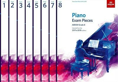 ABRSM Piano Exam Pieces 2017-2018 Syllabus Piano Part Only Grade 1,2,3,4,5,6,7,8
