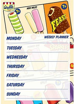 A4 Weekly Planner Wall's Lollies Tear Off Planner