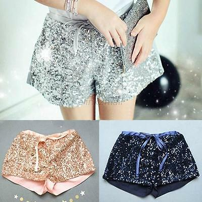 Summer Toddler Kids Baby Girls Sequins Party Casual Shorts Elastic  Pants 2-6T