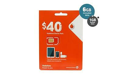 Vodafone Australia Travel SIM Card - Unlimited Calls and Text 7.5 GB Data