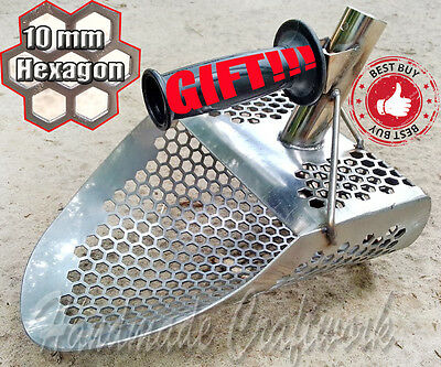 HEXAGON -10 Beach Sand Scoop Metal Detector Hunting Tool Stainless Steel by COOB