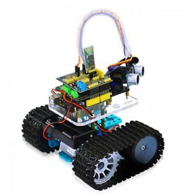 4WD Bluetooth Smart Tank Robot Car Chassis Kit for Arduino