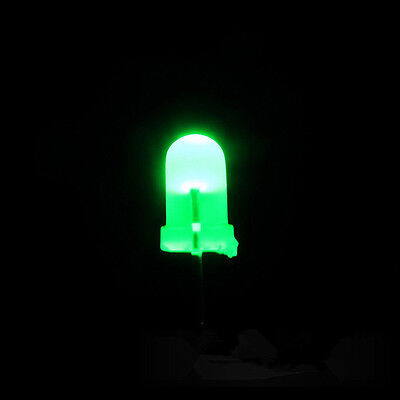 200PCS Super Bright 3mm Round Top Diffused Green Light Emitting Diode Lamps M
