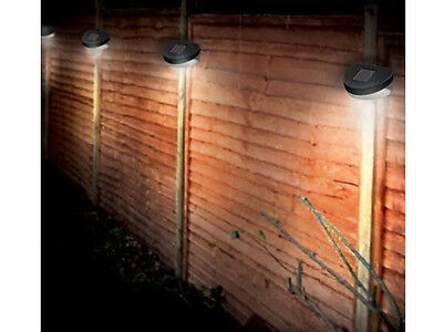 4 x SOLAR POWER POWERED DOOR FENCE WALL LIGHTS LED OUTDOOR GARDEN SHED LIGHTING