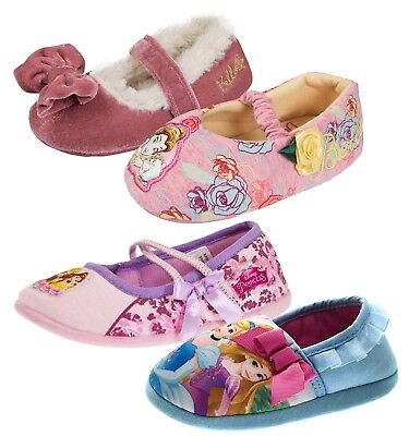 Girls Disney Princess Slippers Cinderella Character Booties Mules Belle Shoes