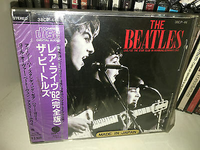 The Beatles Live At The Star Club Rare Cd 1985 Japan Only 1St Press 38Cp-44 Obi