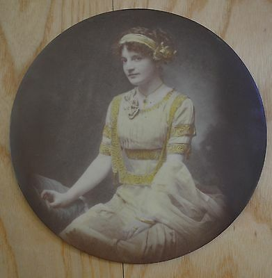 Victorian Flapper Woman Chimney Flue Cover