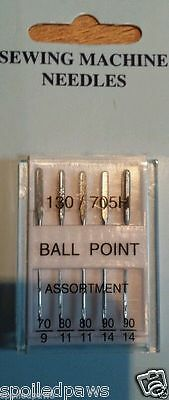 Stretch Ballpoint Jeans Leather Sewing Machine Domestic Needles Brand New