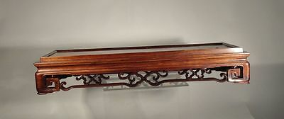 Antique Chinese Large Huanghuali Rosewood Table Stand Plateau Fine Carving