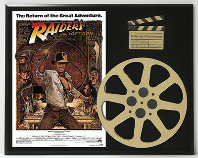 Raiders Of The Lost Ark Harrison Ford Movie Poster Ltd Edition Reel Display