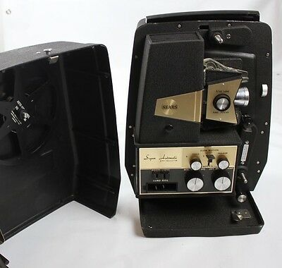 Vintage Sears Roebuck Tower Super Automatic 8MM Movie Projector