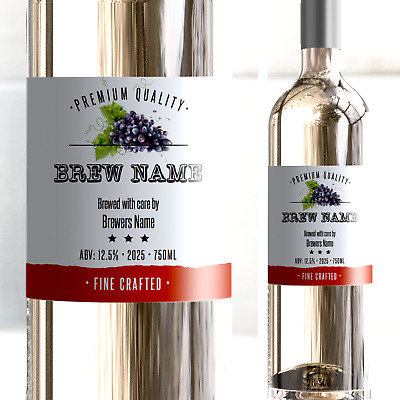 Wine Bottle Labels Self Adhesive Home Made Brew High ...