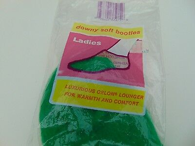 Downy Soft Orlon BOOTIES  Vintage 70's NEW in open Package! Green Lady Jane