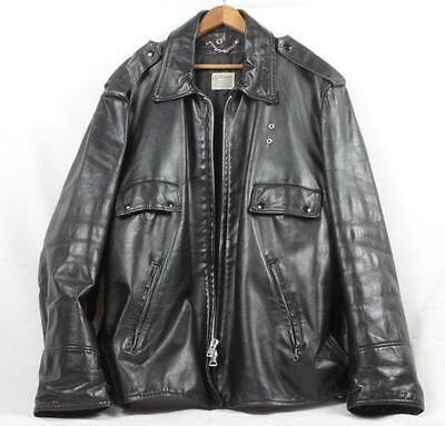 1970's Vintage Rhode Island Police Law Enforcement All Leather Motorcycle Jacket