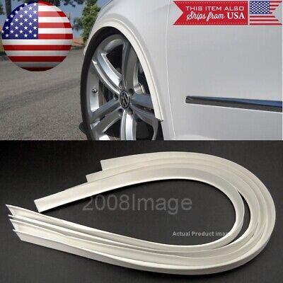"""4 Pieces 47"""" Long White Arch Wide Body Fender Flares Extension Lip Guard For BMW"""