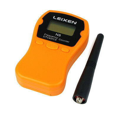 LEIXEN N8 LCD CTCSS/DCS Frequency Counter/Meter 1MHz-1000MHz For Radio Orange as